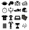 American football icons set vector image