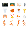 Basketball Orthogonal Icons Set vector image vector image
