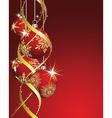 beautiful christmas vector image vector image