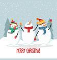 beautiful flat design christmas card with joyful vector image vector image