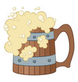 beer mug isolated vector image