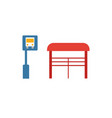 bus stop icon simple element from city elements vector image vector image