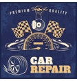 Car Repair Retro Poster vector image vector image