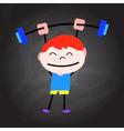 cartoon happy healthy kids vector image vector image