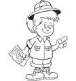 Cartoon of an girl explorer vector image vector image