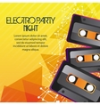 Cassette icon Electro Party design vector image vector image