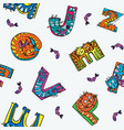 cat alphabet seamless pattern vector image vector image