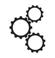 cogwheels work icons vector image