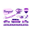 collection of urban transport vector image