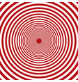 concentric red and white rounds circles vector image