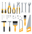 construction hardware industrial tools flat vector image vector image