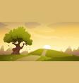 countryside cartoon landscape vector image