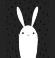 cute cartoon rabbit scandinavian design vector image