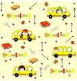 Cute school cartoon seamless pattern Back to vector image