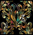 damask baroque seamless pattern colorful vector image vector image