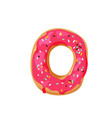 delicious yummy donut with colorful sprinkles vector image vector image