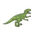 dinosaur cut beef sketch vector image vector image