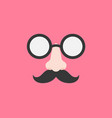 disguise glasses nose and mustache for party vector image