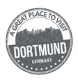 dortmund sign or stamp vector image vector image