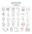 E-commerce icon set Modern line icons for vector image vector image