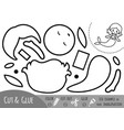 education paper game for children mermaid vector image vector image
