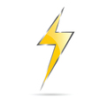 flash sign yellow vector image