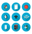 flat icons set heating vector image