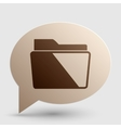Folder sign Brown gradient icon on vector image vector image