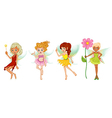 Four cute fairies vector image vector image