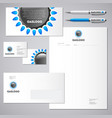 gas industrial logo and identity vector image vector image