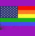 gay america lgbt gay and lesbian pride rainbow vector image vector image