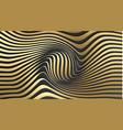 gold on black 3d dark background elegant abstract vector image