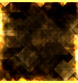 gold squares background vector image