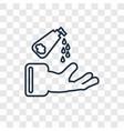 hand soap concept linear icon isolated on vector image