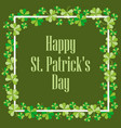 happy st patricks festive background vector image