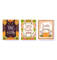 happy thanksgiving day seasonal lettering foliage vector image vector image