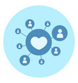 heart shape like icon on blue background social vector image