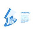 home icon isometric template in flat 3d style vector image