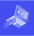 isometric online payment vector image vector image