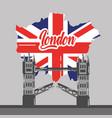 london bridge building map uk landmark vector image
