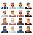 Middle Eastern People Avatars vector image