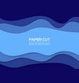 modern paper cut art design template vector image vector image