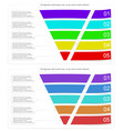 modern style infographic funnel vector image vector image