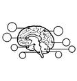 New human brain sign vector image vector image