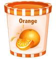 orange yogurt in cup vector image vector image