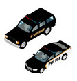 police car set isometric view isolated on white vector image vector image