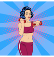 Pop Art Woman Doing Exercises with Dumbbells vector image vector image