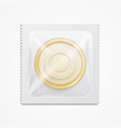 realistic 3d detailed condom package vector image