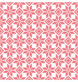 red and white stylized knitted seamless pattern vector image