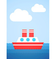 Red Boat vector image